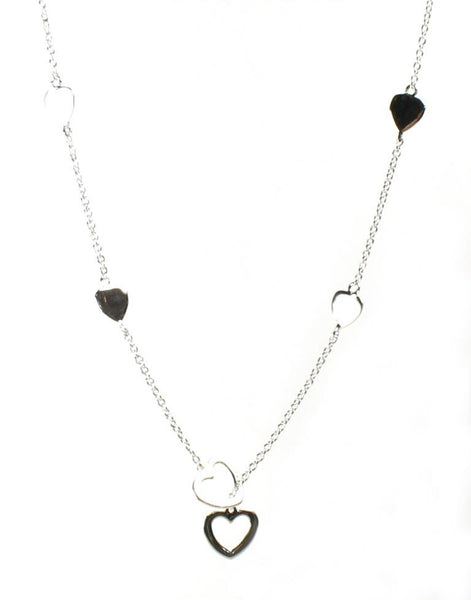 Lariat with Simple Hearts Pendant