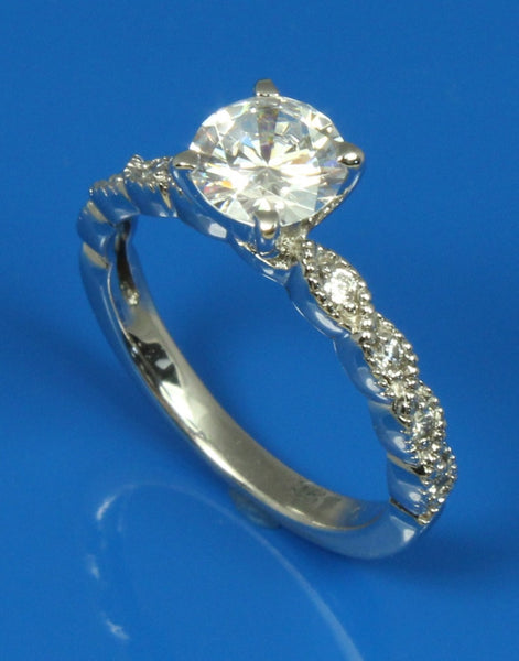 Milgrain Diamond Engagement Ring Setting