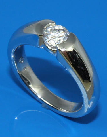 Flush Diamond Solitaire Ring Setting