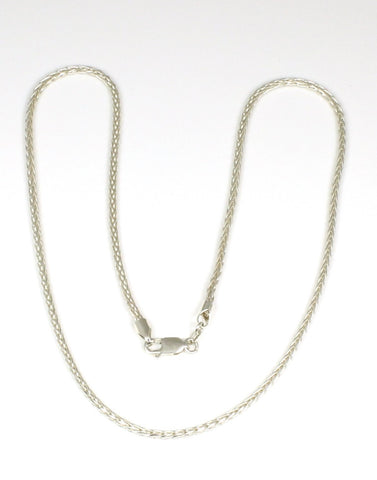 Diamond Cut Wheat Weaved Chain