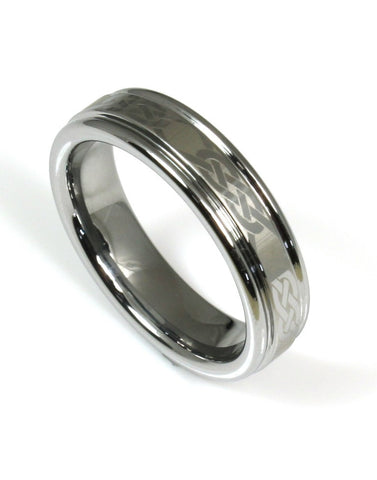 Tungsten Chain Link Design Band
