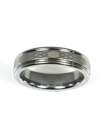 Tungsten Chain Link Design Band by Heavy Stone Rings