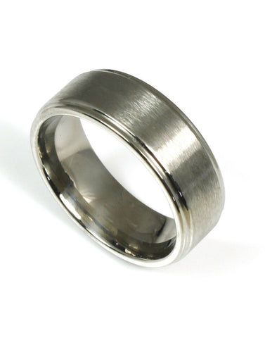 Brushed with Polished Edge Band