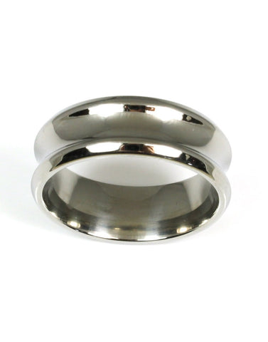 Titanium Concave Shaped Band