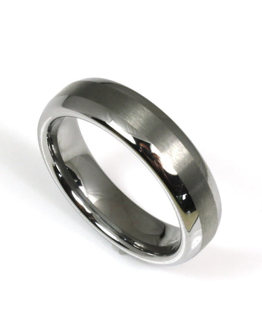 Tungsten Brushed Stripe Band