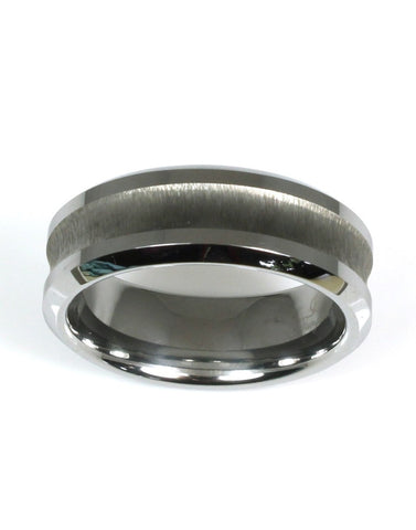 Concave W/Brushed Center Band