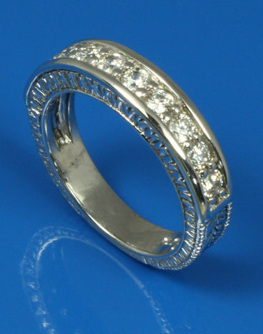 .70ctw Diamond Engraved Band