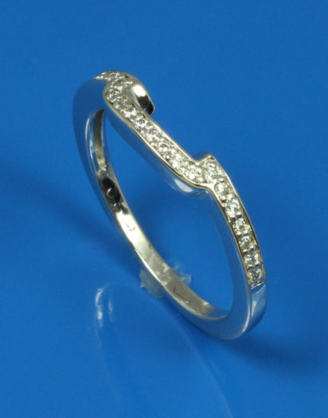 .11ctw Diamond Knotched Wedding Band