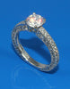 .93ctw Diamond 3 Sided Engagement Ring Setting