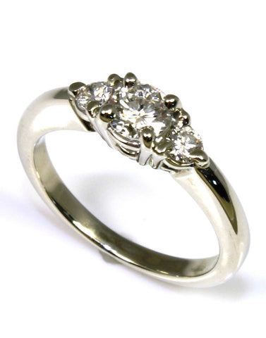 .62ctw Round Diamond Three Stone Ring