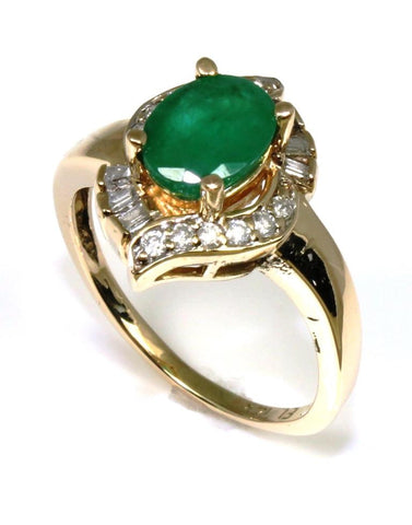 Oval Emerald and Diamond Ring