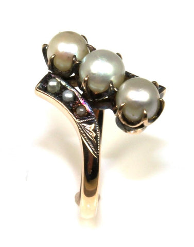 Vintage Pearl and Seed Pearl Ring