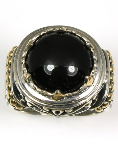 Bali Black Onyx Deco Ring