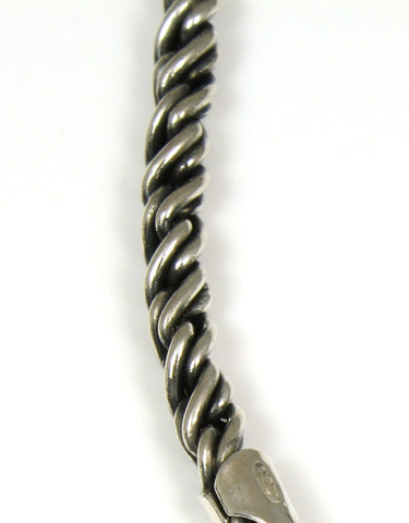 Oxidized Twist Rope Chain