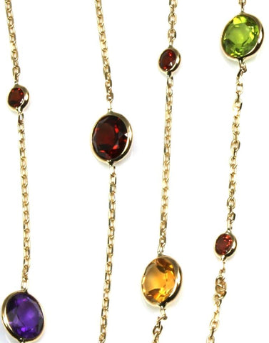 Gemstone Station Necklace