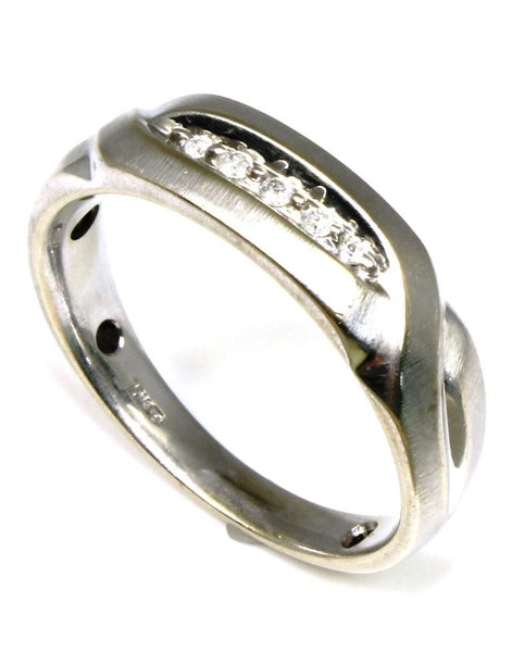 .03ctw Diamond Brushed Men's Ring
