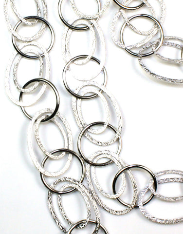 "Double Oval Link 43""Necklace by Bastian Inverun"