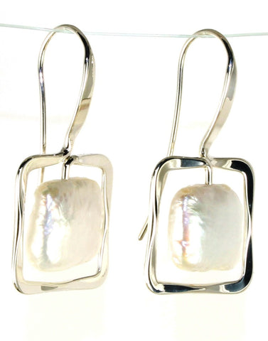 Zenith Pearl Earrings by Ed Levin