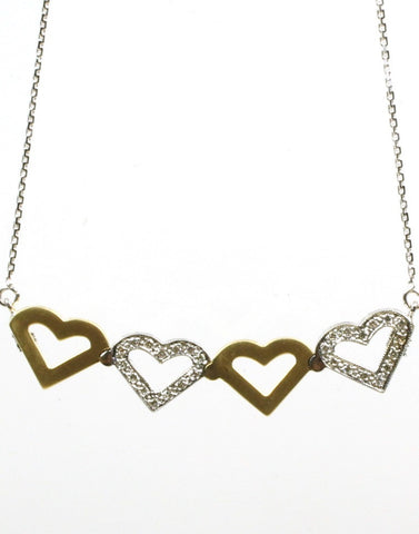 Diamond Heart Magnetic Necklace