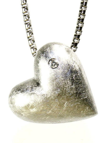 Diamond in the Rough Heart Necklace by Bastian Inverun