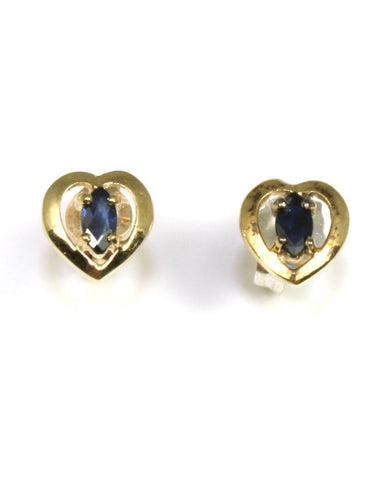Peitie Sapphire Heart Earrings
