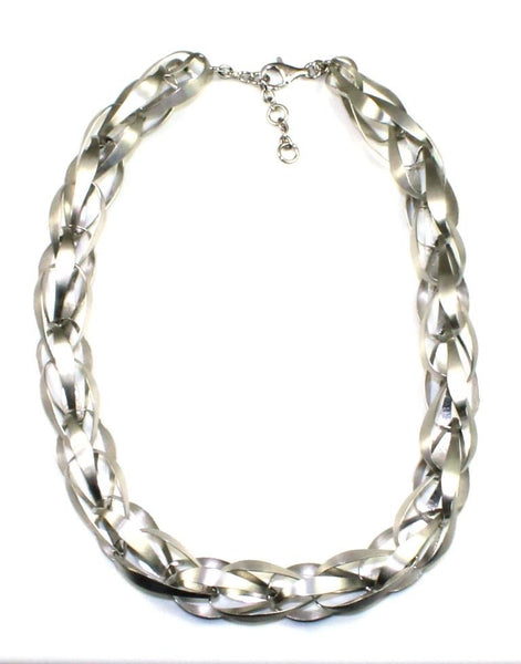 Ribbon Weave Necklace by Bastian Inverun