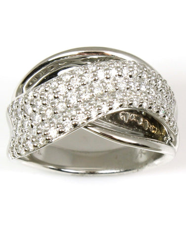 Diamond Pave Swirl Ring by Allison Kaufman