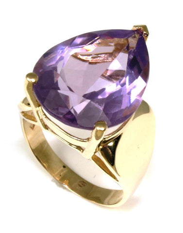 Large Pear Shape Amethyst Ring