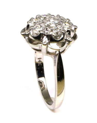7 Diamond Round Cluster Ring with 1.00ctw