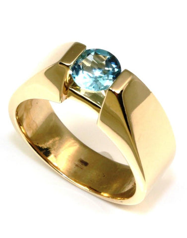 Round Blue Topaz Ring