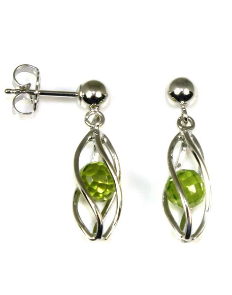 Caged Peridot Earrings by Carla & Nancy B