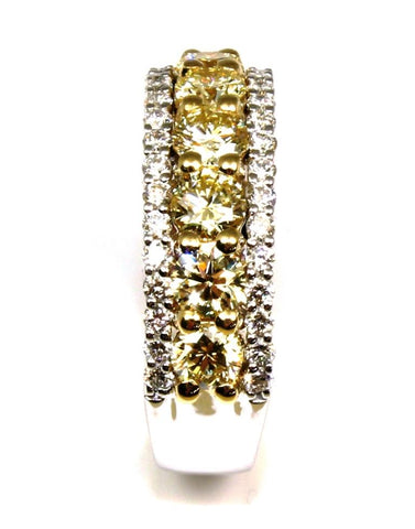 Yellow Fire Diamond Ring by Allison Kaufman