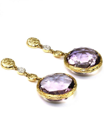 Amethyst Rock Candy Earrings by Allsion Kaufman