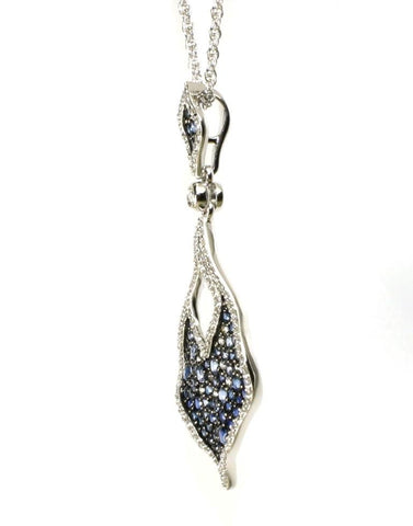 Blue Sapphire and Diamond Statement Necklace by Allison Kaufman