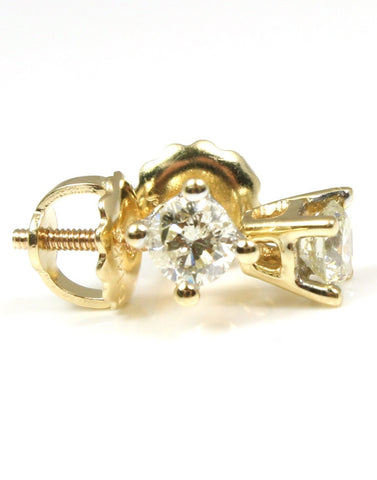 3/8ctw Round Diamond Stud Earring