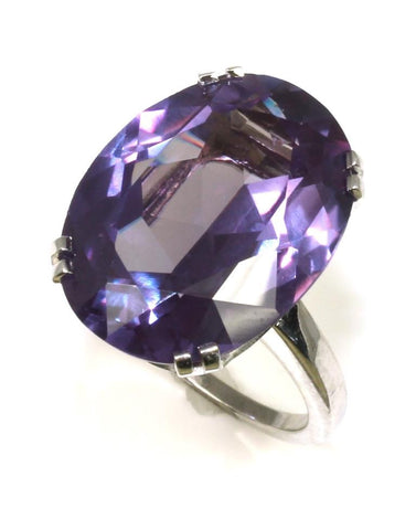 Synthetic Alexandrite Ring