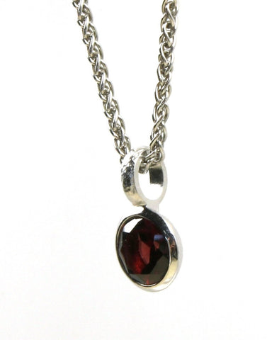 Garnet Hammered Necklace by Bastian-Inverun