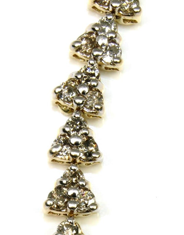 3.50ctw Diamond Triangle Tennis Bracelet