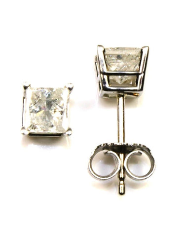 1ctw Princess Cut Diamond Stud Earrings