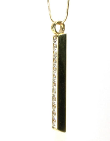 Diamond .84ctw Stick Necklace