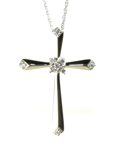 .01ctw Diamond Cross Necklace