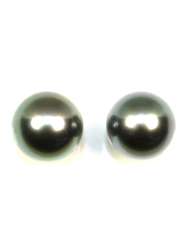 10mm Tahitian Pearl Stud Earrings