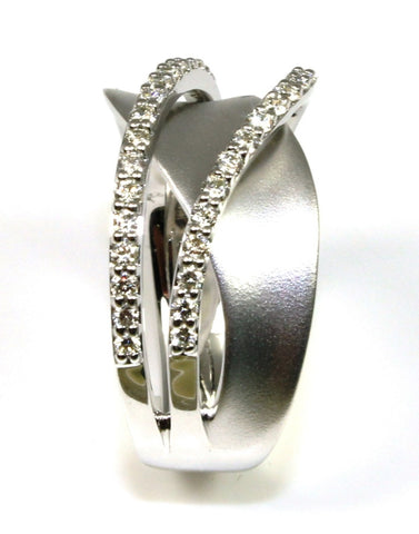 .38ctw Diamond Pave Swirl Ring by Allison Kaufman