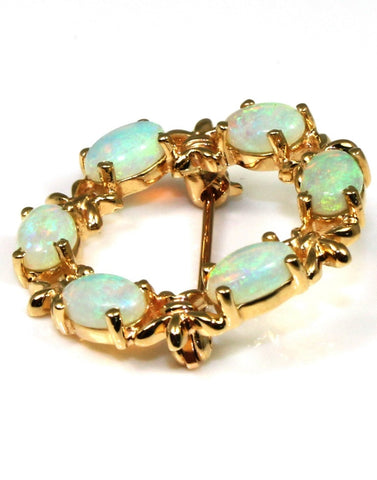 Opal Wreath Pin