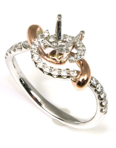 Diamond Pave Movement Bridal Mounting by Allison Kaufman