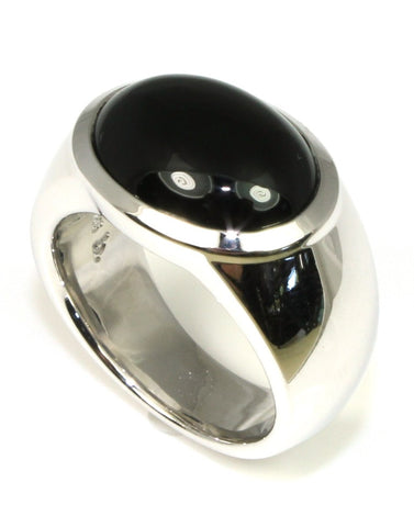Ebony Onyx Wide Ring by Bastian Inverun