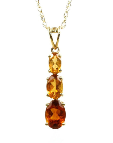 Three Colored Citrine Necklace
