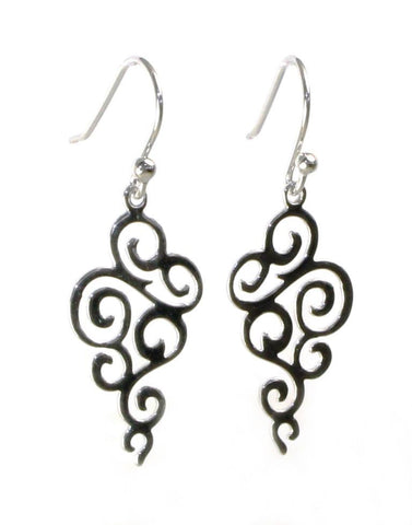 Swirl Drop Earrings by Sterling Reputation