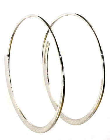 Eclipse Round Hoop Earrings by Bastian Inverun