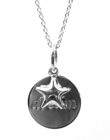 """Dream"" Inspirational Disc Necklace"